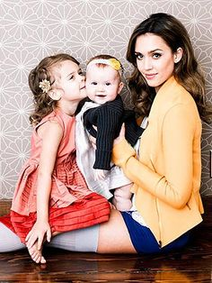 After being named one of the top 100 most creative people in business in 2012 by Fast Company, Jessica Alba poses with her daughters — Honor Marie, 3½, and Haven Garner, 9 months — for an ultra chic photo shoot.