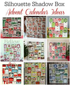 Ideas for how to use the Silhouette Shadow Box Advent Calendar