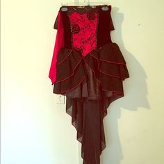Halloween costume Vampire Halloween costume. Size small. Wore once. Perfect condition. Comes with attachable cape. The back hangs down. This costume is super cute and flattering! I was tempted to keep it but I had to overcome it! Other