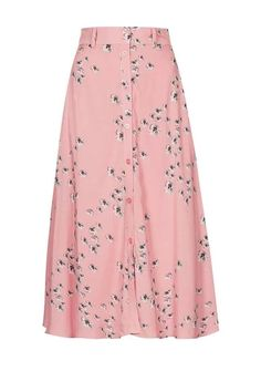 **Floral Button-through Midi Skirt by The Whitepepper - Skirts - Clothing Modest Dresses, Modest Outfits, Skirt Outfits, Modest Fashion, Hijab Fashion, Cute Dresses, Dress Skirt, Midi Skirt, Cute Outfits