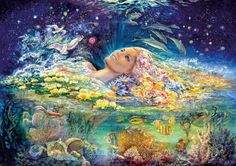 Josephine Wall - Aphrodite - Goddess Of Love - Canvas Complete colection of art, limited editions, prints, posters and custom framing on sale now at Prints. Josephine Wall, Fantasy Paintings, Fantasy Art, Art Expo, Sea Queen, Divine Mother, Wale, Goddess Of Love, Pretty Art