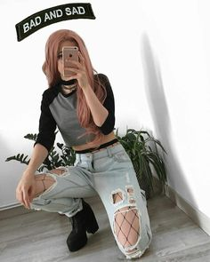 Korean Fashion Trends you can Steal – Designer Fashion Tips Grunge Outfits, Tumblr Outfits, Edgy Outfits, Mode Outfits, Grunge Fashion, Girl Outfits, Fashion Outfits, Womens Fashion, Alternative Outfits