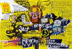 Basquiat Jean-Michel Basquiat : American Artist ( 1960 - 1988 ) More At FOSTERGINGER @ Pinterest