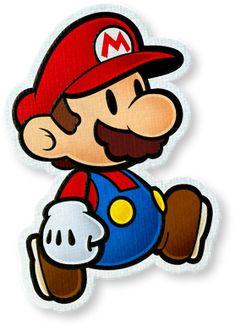 Mario in Paper Mario: Color Splash Mario Bros., Mario Party, Mario And Luigi, Super Mario Brothers, Super Mario Bros, Paper Mario Color Splash, Mario Tattoo, Amazing Drawings, Disney Drawings