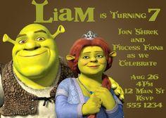 Shrek Birthday Party Invitation - Featuring Shrek and Fiona - Digital | TEnglishPhotography - Paper/Books on ArtFire
