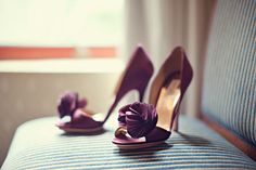 Purple wedding shoes!