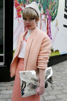 London Fashion Week street style  [Photo by Merry Brownfield]