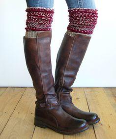 Wine Tahoe Tassel Boot Socks on #zulily *so cute