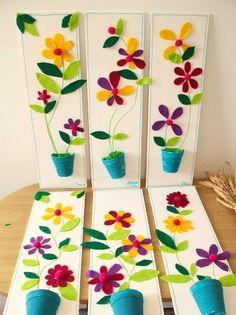 Idée cadeau fête des mères original - ateliers créatifs en Guadeloupe  scrapbooking décopatch bricolage peinture: Un joli pot de fleurs en feutrine