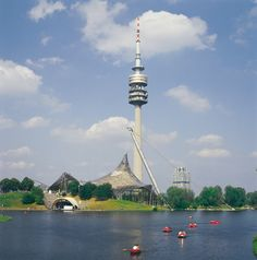 See all of Munich in one go, perhaps over dinner, at the Olympic Tower's revolving restaurant  Image Courtesy: München Tourismus