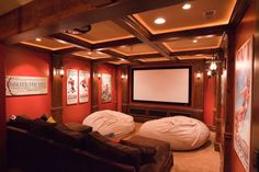 More ideas below: DIY Home theater Decorations Ideas Basement Home theater Rooms Red Home theater Seating Small Home theater Speakers Luxury Home theater Couch Design Cozy Home theater Projector Setup Modern Home theater Lighting System Home Theater Lighting, Home Theater Decor, At Home Movie Theater, Home Theater Speakers, Home Theater Rooms, Home Theater Design, Home Theater Seating, Small Home Theaters, Home Theater