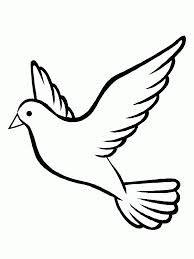 Dibujo de paloma de la paz para imprimir  Catequesis  Pinterest