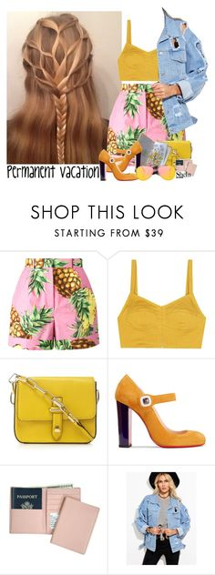 """""""567->""""Permanent Vacation"""" by 5 Seconds Of Summer"""" by dimibra ❤ liked on Polyvore featuring Dolce&Gabbana, Isa Arfen, Christian Louboutin, Royce Leather, WithChic and Topshop"""