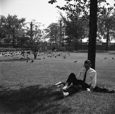 VIVIAN MAIER Chicago, Grant Park (Man Sitting Beneath Tree), 1968 For more information contact: The Jeffrey Goldstein Collection