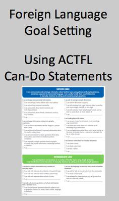 Foreign (World) Language Goal Setting Using ACTFL Can-Do Statements (French, Spanish) www.wlteacher.wordpress.com