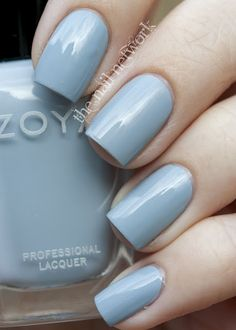 Zoya Kristen ♥ A Dusk Blue Beauty of a Nail Polish. http://www.zoya.com/content/38/item/Zoya/Gray-Nail-Polish-Cream-Nail-Polish-Kristen-ZP591-Neutral-Nail-Polish.html