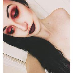 "• the red death • definitely took inspiration from @michael_hussar on this one!  eyes: @limecrimemakeup venus palette // @myprettyzombie ""epistaxis""  contour: @sugarpill ""suburbia"" from the edward scissorhands palette  lips: @notoriouslymorbid ""druidess""  #thereddeath #lamuerteroja #goth #gothmakeup #mua #makeupartist #limecrime #sugarpill #myprettyzombie #mpz #surreal #surrealist #alternative #darkart #art #michaelhussar"