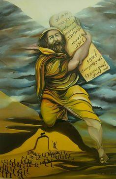 View 1 of Moses bring the Ten Commandments