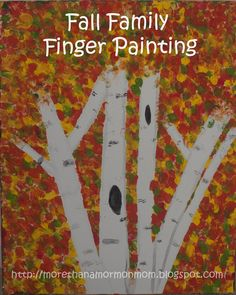 Fall finger painting with the kids. I want to pin to remember this for future Fall crafts with kids