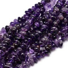 Natural Amethyst Chip Beads StrandsG-E271-123