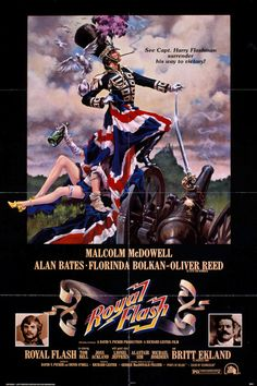 Official theatrical movie poster for Royal Flash Directed by Richard Lester. 1970s Movies, Vintage Movies, Iconic Movies, Movie Props, Film Movie, Science Fiction, Richard Lester, Alan Bates, Cinema Posters