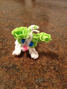 Puppy dog. Rainbow Loom Charm. Check youtube for video.