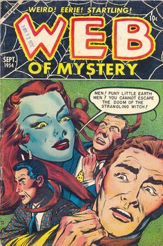 Comic Book Cover For Web of Mystery #26