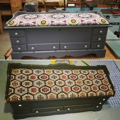 Lane Cedar Chest renovation before and after!