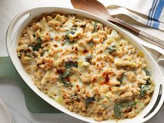 Spinach and Artichoke Macaroni and Cheese : This lightened-up but still creamy version of macaroni and cheese is full of protein — an impressive 29 grams per serving, quite an accomplishment for a vegetarian meal. The whole-wheat pasta, spinach and artichoke hearts add their vitamin, mineral and fiber superpowers. via Food Network