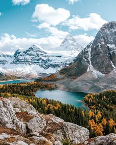 [1920 x1280] Autumn in Mount Assiniboine, Canada  - my mother