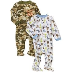 ff00396109 Garanimals Newborn Baby Boy Cotton Sleep n  Play 2-pack