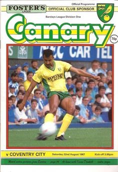 22 August 1987 v Norwich City Lost 1-3