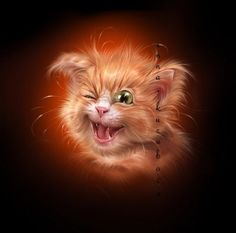 Characters on Behance Funny Animal Memes, Funny Animal Pictures, Funny Cats, Funny Animals, Cute Animals, Cheshire Cat Art, Cat Mouse, Cat Dog, Cat Design