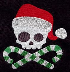 Santa Skull | Urban Threads: Unique and Awesome Embroidery Designs