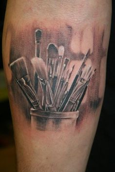 paintbrush tattoo - Buscar con Google
