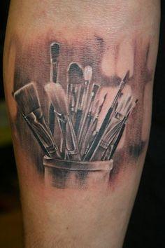 paintbrush tattoo - Buscar con Google