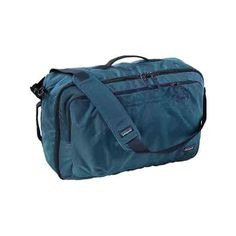 Patagonia Headway MLC 45L - Glass Blue (270 NZD) ❤ liked on Polyvore featuring bags, luggage and blue