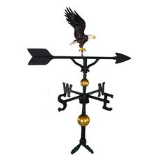 Montague Metal Products 32-Inch Deluxe Weathervane With Color Full Bodied Eagle Ornament, 2015 Amazon Top Rated Weathervanes #Lawn&Patio
