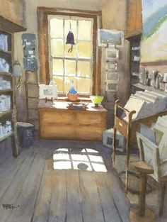 Winston Oh:  Craft Store, Richmond, Tasmania--How to Depict Brilliant Light in Watercolour