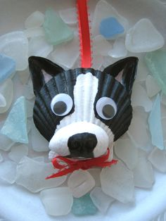 Boston Terrier Ornament by Lorishellart on Etsy, $8.00
