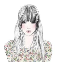 Uma Garota Adolescente: Desenhos e imagens