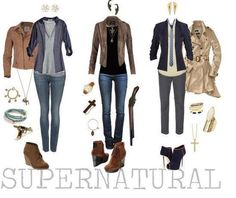 Supernatural gender bending outfits we need these Vicky. Donna would make a good Cass.