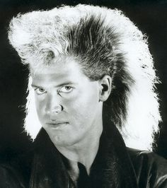 """He told the school photog """"Backlight it, man. I'm in a Flock of Seagulls cover band"""". Power Mullet! Shazaam!"""