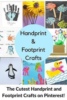 Handprint and Footprint Craft Ideas