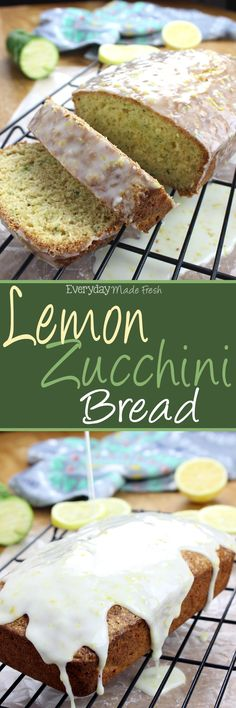 This simple Lemon Zucchini Bread is made with lemon zest and fresh zucchini, perfect for any lover of lemon.   EverydayMadeFresh.com