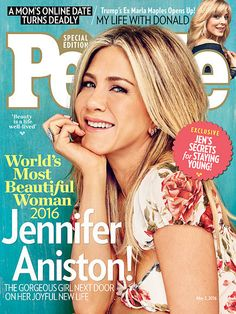"""This year, People has named Jennifer Aniston """"World's Most Beautiful Woman"""" of 2016."""