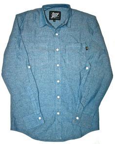 Benny Gold - Light Indigo Button-Down Shirt now available at www.petalumasupplyco.com