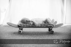 Dreaming about those half pipes.  #repphotography #studioportraits #newbornportraits #skateboard #dreamingbaby