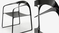 """The Ploop"" Carbon Fiber chair by Timothy Schreiber is about minimalism"