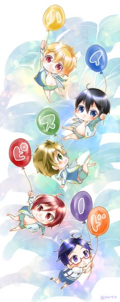 Drawn by pont_o ... Free! - Iwatobi Swim Club, haruka nanase, haru nanase, haru, free!, iwatobi, makoto tachibana, makoto, tachibana, nagisa hazuki, nagisa, hazuki, nanase, rei, rei ryugazaki, ryugazaki, rin, rin matsuoka, matsuoka